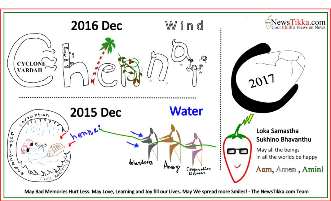 happy, New, Year, 2017, love, joy, Learning, Cool, Chilli, NewsTikka, Chennai, water, wind, cyclone, vardah, floods, 2015, 2016, December, Dec, 2017, best wishes, love, life, joy, learning,